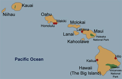 Hawaii travel map