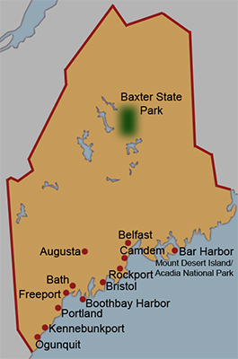Maine Travle Map