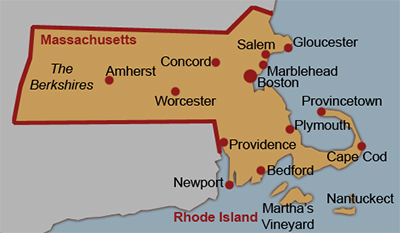 Massachusetts Map