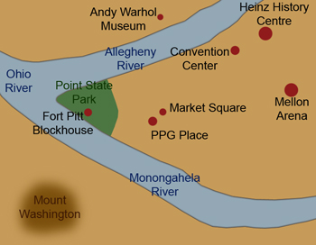 3 rivers meet in pittsburgh map